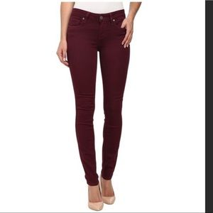 Paige Denim Deep Red Peg Skinny Jeans Sz 28